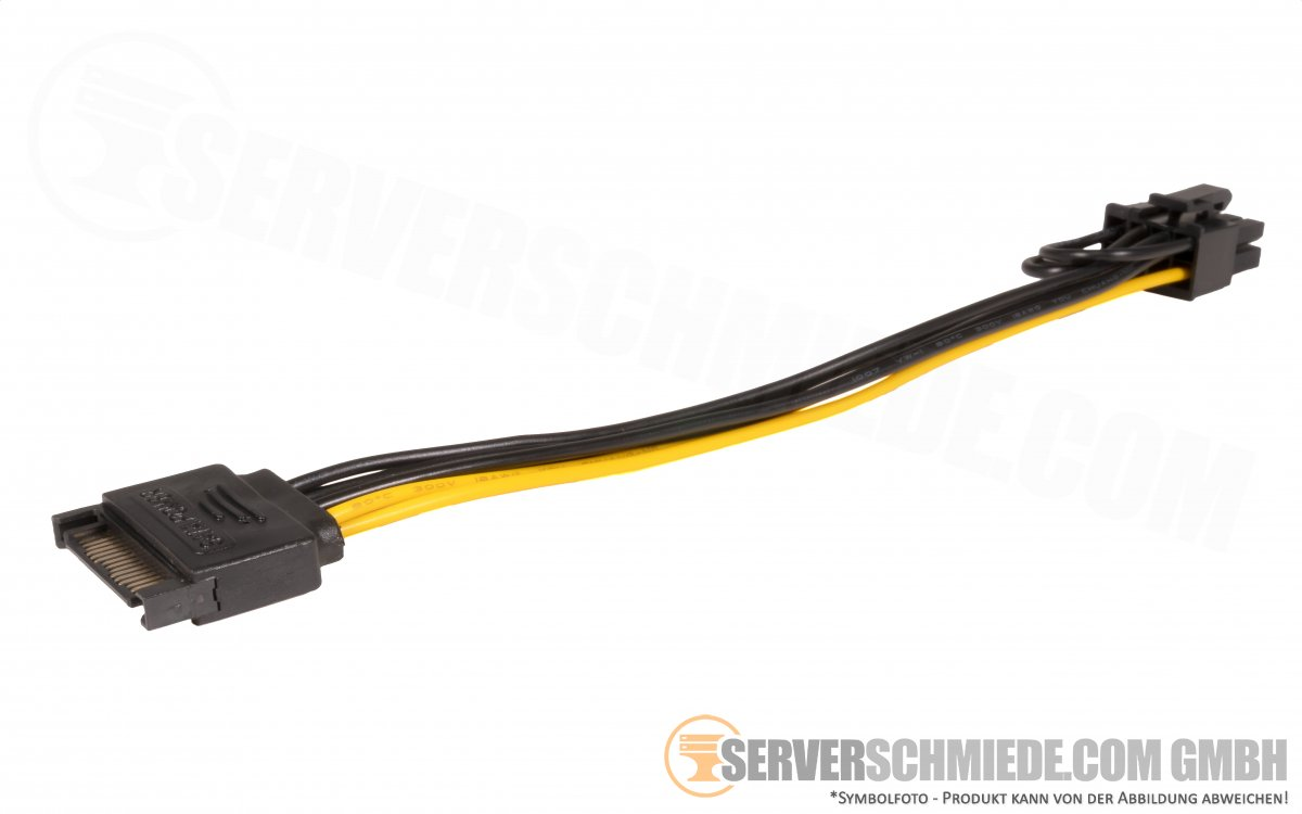 15pin Sata Cable Male To Gpu Power 8 Pin 6 2 Netzteil Adapter Kabel 20cm Serverschmiede Com Gmbh