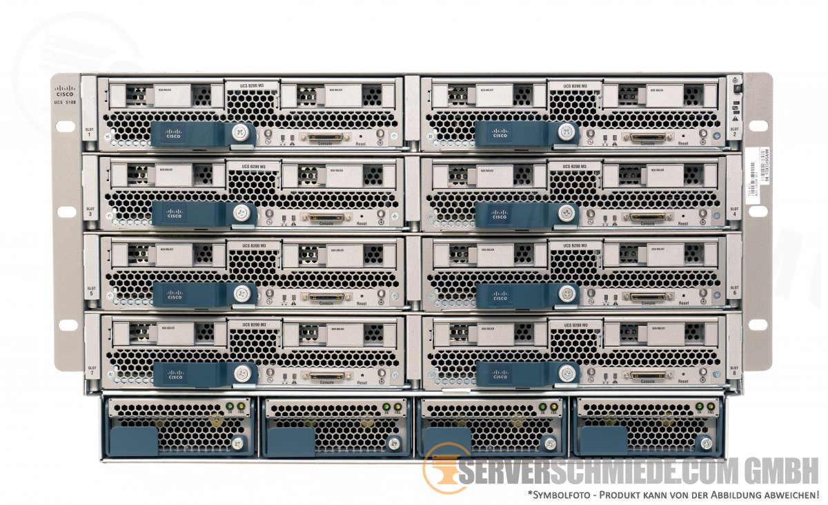 Cisco UCS 5108 Blade Server Chassis inkl  4x PSU 2x UCS-2204XP 4