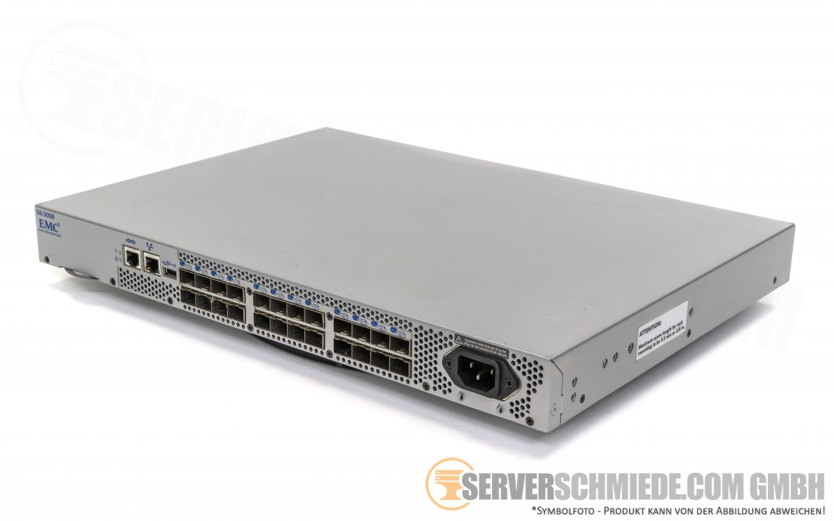Brocade EMC 300 DS-300B 24 Port 8Gb FC SAN Switch 8 Ports Active