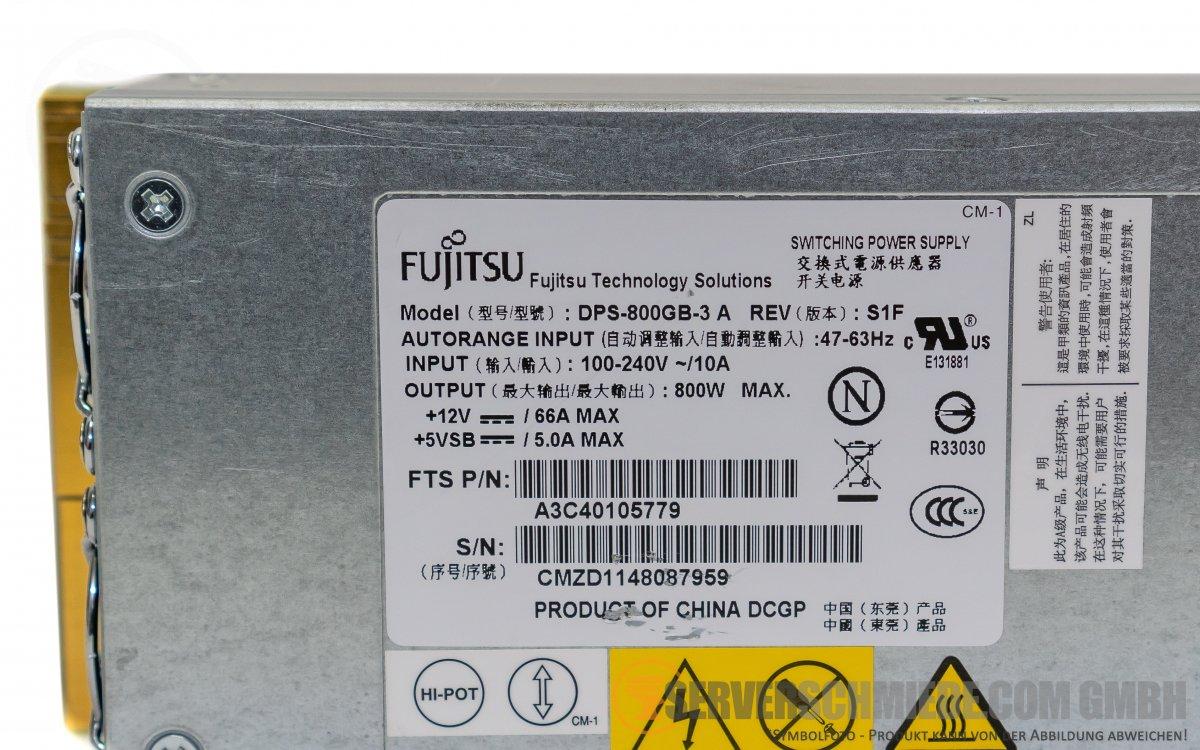 fujitsu dps 800gb 3 a psu netzteil 800w a3c40105779 rx300. Black Bedroom Furniture Sets. Home Design Ideas