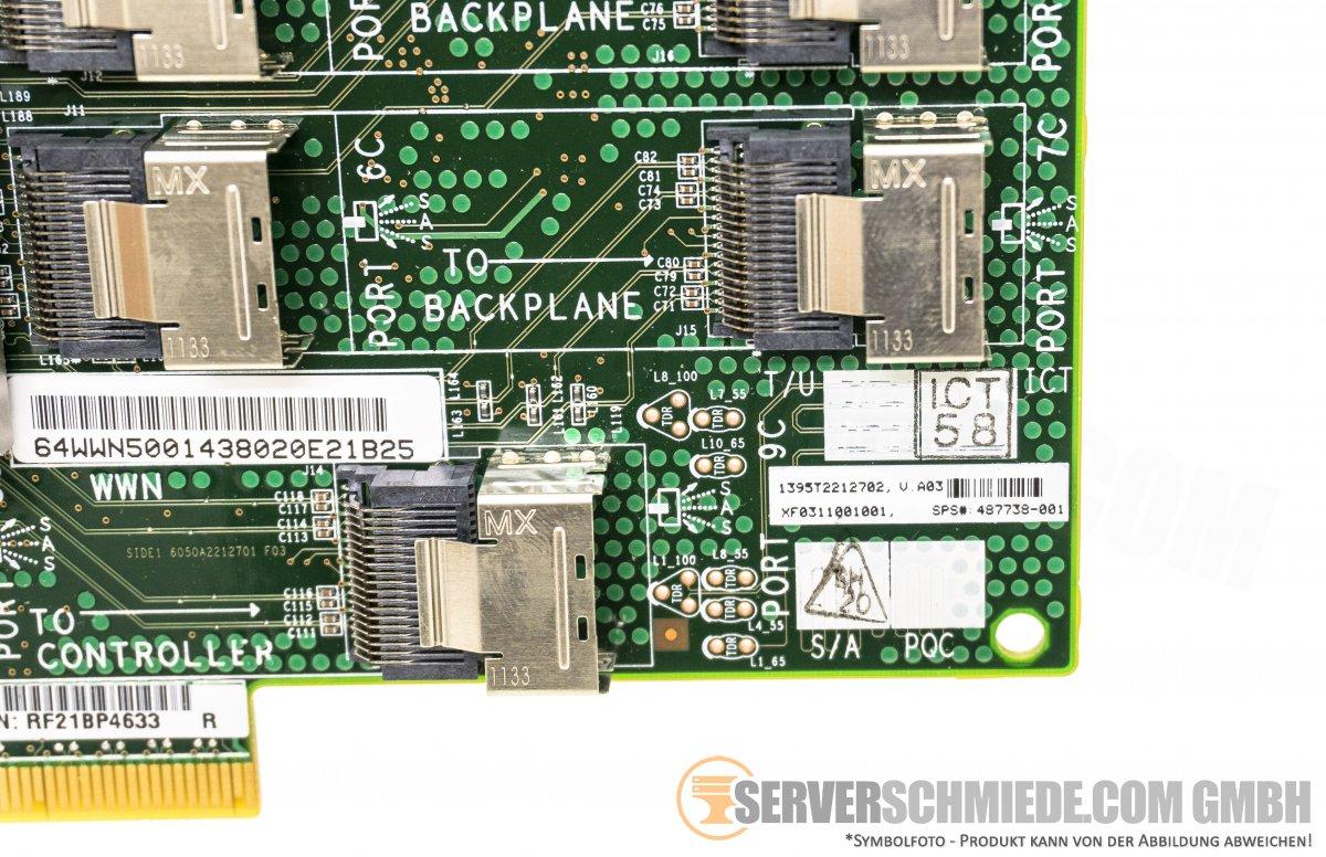 HP 24 Bay PCI-e SAS Expander Card mit 8x SFF-8087 Interface