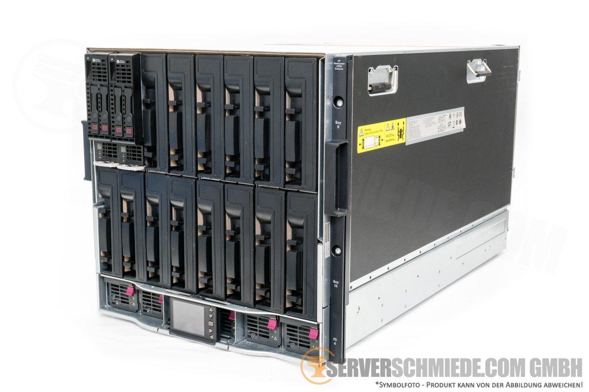 HP Blade Server C7000 G2 Enclosure Gehäuse, 6x Netzteil PSU, 10x