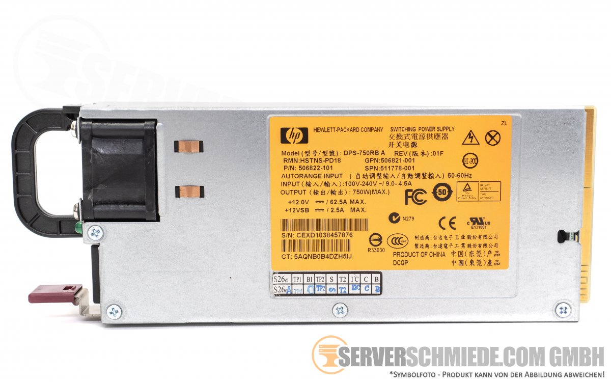 HP Server Power Supply 750W HSTNS--PD18