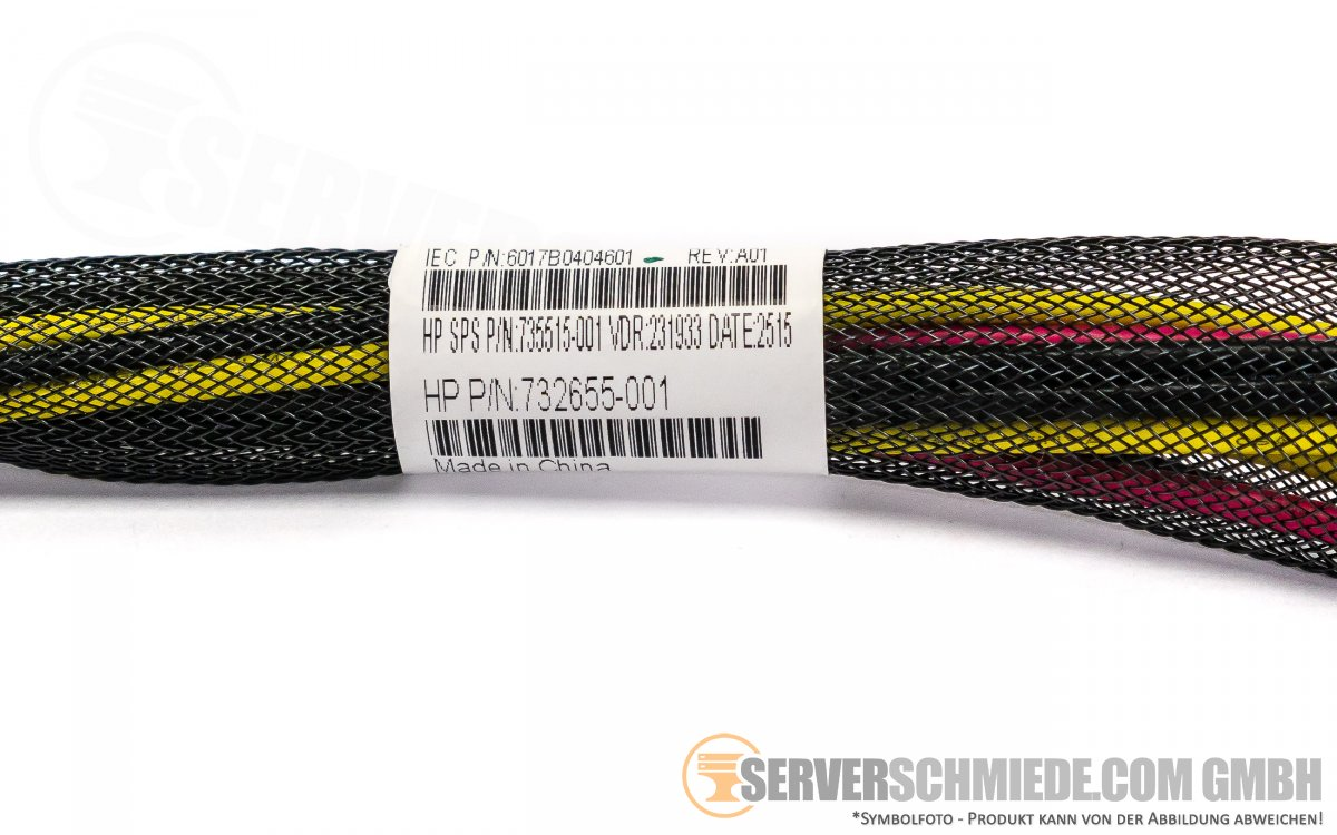 HP DL580 Gen8 G8 Powerkabel 30cm 2x12 pin 732655-001 735515