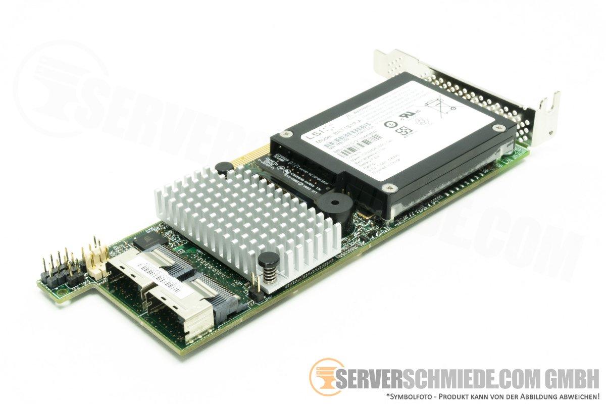 LSI MegaRaid SAS 9271-8i PCIe Raid Controller 1GB Cache mit BBU L3
