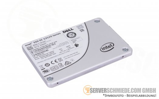 "120GB 2,5"" Intel Dell 0394XT Datacenter Enterprise 24/7 Raid SATA SSD ++low hours runtime++"