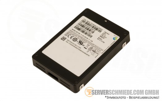 "3840GB 3,84TB 2,5"" Samsung Datacenter Enterprise 24/7 Industrial SSD PM1643 SAS 12G 400K IOPS ++NEW SSD zero hours++"