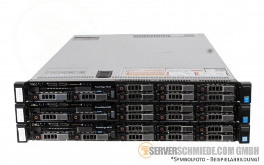 "Ceph Storage HA Cluster - 3x Dell PowerEdge R630 19"" High Availability Converged HCI PetaSAN - Proxmox Ceph"