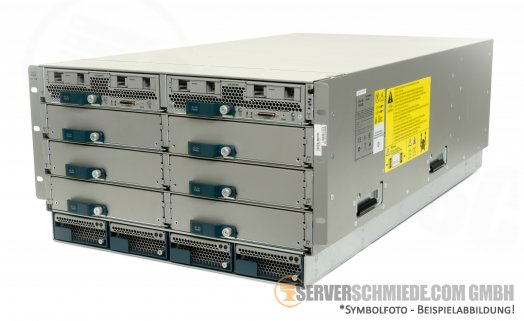 Cisco UCS 5108 Blade Server Chassis inkl. 4x PSU 2x UCS-2204XP 4-Port 10G Extender
