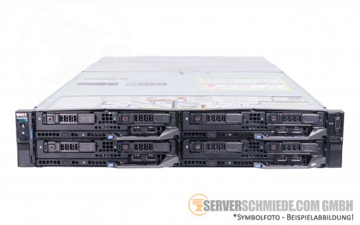 Dell FX2s 4-Node Blade Server 4-Node + 4x FC630 2x Intel XEON E5-2600 v3 v4 (8x CPU 64x DDR4) vmware Server -CTO- 2,5""