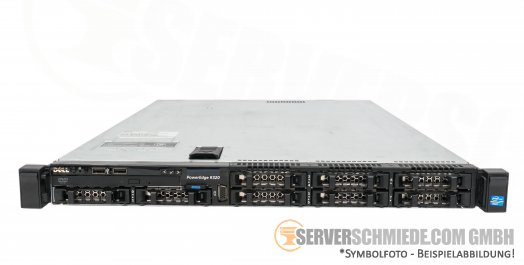 "Dell PowerEdge R320 19"" 1U 8x 2,5"" SFF Intel XEON E5-2400 v1 / v2 PERC SAS SATA Raid HotSwap PSU vmware  Server -CTO-"