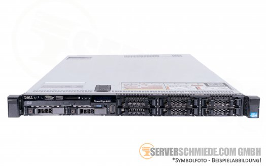 "Dell PowerEdge R620 19"" 1U Server 8x 2,5"" SFF 2x Intel XEON E5-2600 v1 v2 DDR3 ECC Raid 2x PSU 3xLP - CTO -"