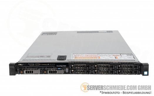 "Dell PowerEdge R630 19"" 1U Server 8x 2,5"" SFF 2x Intel XEON E5-2600 v3 v4 DDR4 ECC Raid 2x PSU 1x FP 1x LP - CTO -"