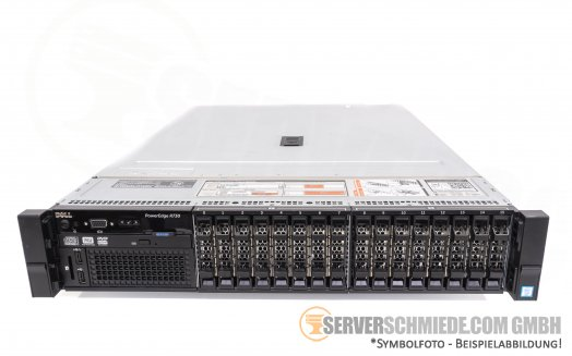 "Dell PowerEdge R730 19"" 2U 16x 2,5"" SFF 2x Intel XEON E5-2600 v3 v4 DDR4 ECC Raid 2x PSU Server -CTO-"