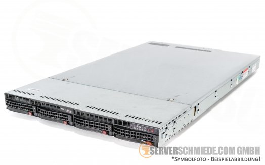 "FreeNAS ZFS Storage Server - Supermicro CSE-819U X10DRU-i+ 19"" 1U 4x 3,5"" LFF"