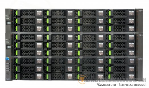 Fujitsu ETERNUS 72TB SAN Storage DX90 S2 + 2x DX80 Disk Expansion 36x 2TB LFF SAS HDD FC 8Gb Fibre Channel