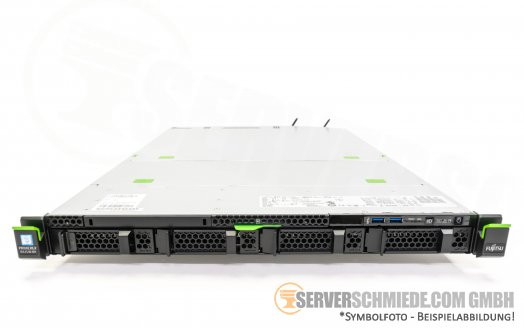 "Fujitsu Primergy RX2530 M1 19"" 1U Server 4x 3,5"" LFF 2x Intel XEON E5-2600 v3 DDR4 ECC Raid 2x PSU Server"