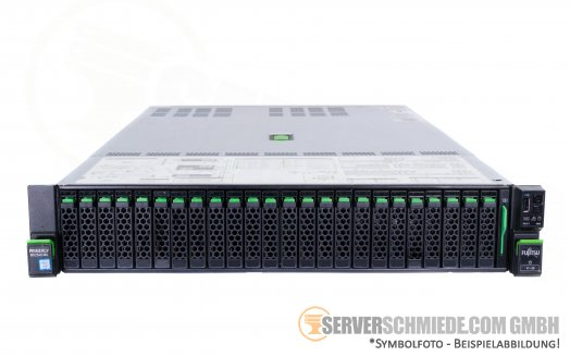 "Fujitsu Primergy RX2540 M4 19"" 2U Server 24x 2,5"" SFF 2x Intel XEON LGA3647 Scalable Gen. 1 SAS SATA Raid 2x PSU vmware ready"