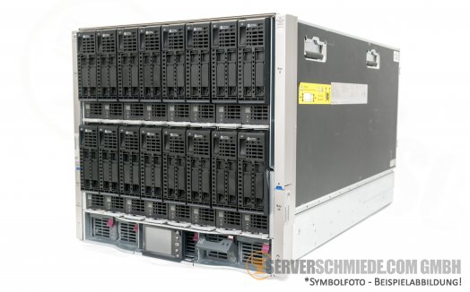 HP Blade System HP C7000 G3 Platinum Blade Server Chassis Enclosure 681844-B21 6x 2400W High Efficiency PSU 10x FAN 2x OA modules