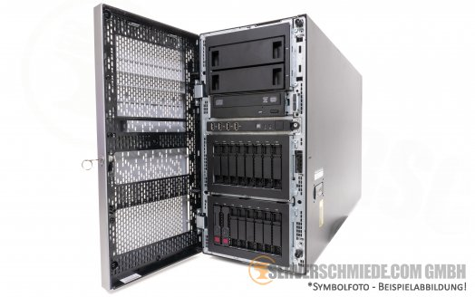 "HP ML350p Gen8 Tower Server 16x 2,5"" SFF 2x Intel XEON E5-2600 v1 / v2 SAS Raid P420i 2x PSU -CTO-"