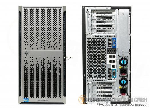 "HP ML350p Gen8 Tower Server 8x 2,5"" SFF 2x Intel XEON E5-2600 v1 v2 DDR3 ECC Raid P420i 2x PSU -CTO-"