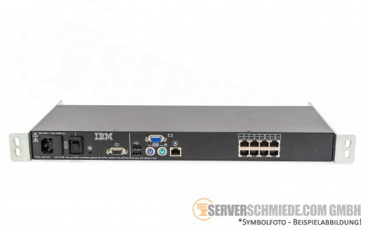 IBM 41Y9310 KVM 8 Port Console Switch 1735-3LX