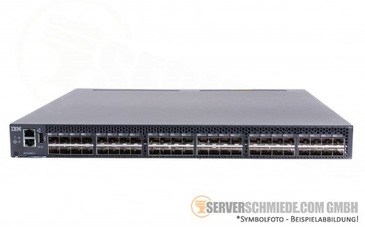 IBM Brocade 2498-F48 6510 48-Port 16Gb FC Fibre Channel SAN Switch 48 Ports active