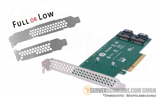 Intel HP 2x M.2 SATA SSD Slot Storage Controller Adapter Card PCIe x4 759238-001