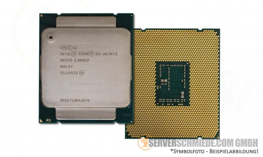 Intel Xeon E5-2670V3 SR1XS 12C Server Prozessor 12x 2,30 GHz 30MB 2011-3 CPU