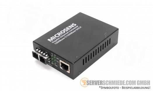 Microsens 1GbE Gigabit Ethernet Medien Konverter 1000Base-T RJ-45 copper -- 1000Base-SX/LX SC/MM LWL optisch MS400190