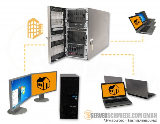 "RDS HP ML350p Gen8 Tower Server 8x 2,5"" SFF 2x Intel XEON E5-2600 v1 / v2 SAS SATA Raid P420i 2x PSU"