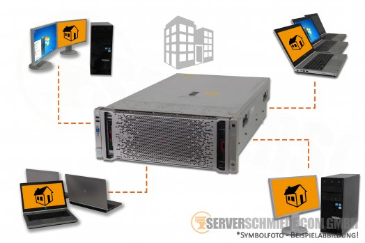 "RDS Server HP DL580 G8 Gen8 19"" 4U 5x 2,5"" SFF 4x Intel XEON E7-4800 / 8800 v2  HotSwap PSU"