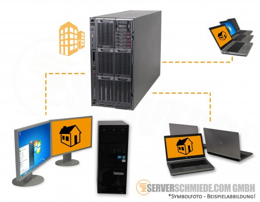 "RDS Server HP ML350 G9 Gen9 Tower Server 8x 2,5"" SFF 2x Intel XEON E5-2600 v3 / v4 SAS SATA Raid"