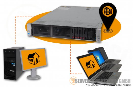 "RDS Server HP Proliant DL380 G9 Gen9 19"" 2U Server 8x 2,5"" SFF 2x Intel XEON E5-2600 v3 / v4 SAS SATA Raid 2x PSU"