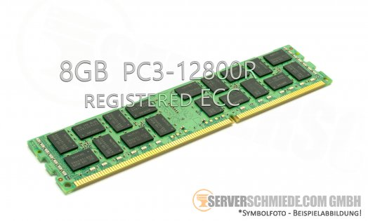 Samsung 8GB 1Rx4 PC3-12800R registered ECC HP 647651-081 CN M393B1G70BH0-CK0 1301