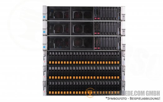 VMware - Proxmox Cluster - 3x Supermicro 24x SFF NVMe + 3x HP DL560 G9 - High Availability Converged HCI PetaSAN - Proxmox Ceph