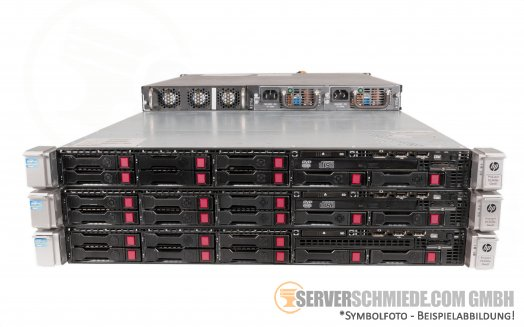 VMware Shared Storage HA Cluster - 3x HP Proliant DL360 Gen8 + Quanta 10GbE SFP+ switch High Availability Converged HCI PetaSAN ISCSI VMware